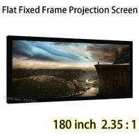 Personalizado Gran Pantalla de 180 pulgadas 2.35: 1 Pantallas de Proyección Del Marco Fijo Plana Para Ultra HD 1080 P Proyector