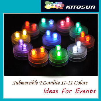 KITOSUN Submersible colorful led tea light with 2 Leds  Wedding centerpiece light