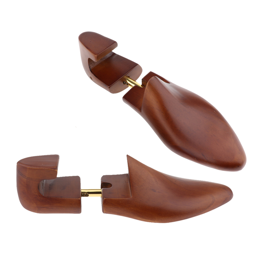 1 Pair Men Practical Flexible Shoe Shapers Former Stretcher Cedar Wood Shoe Trees Adjustable Shapers Collar Stays