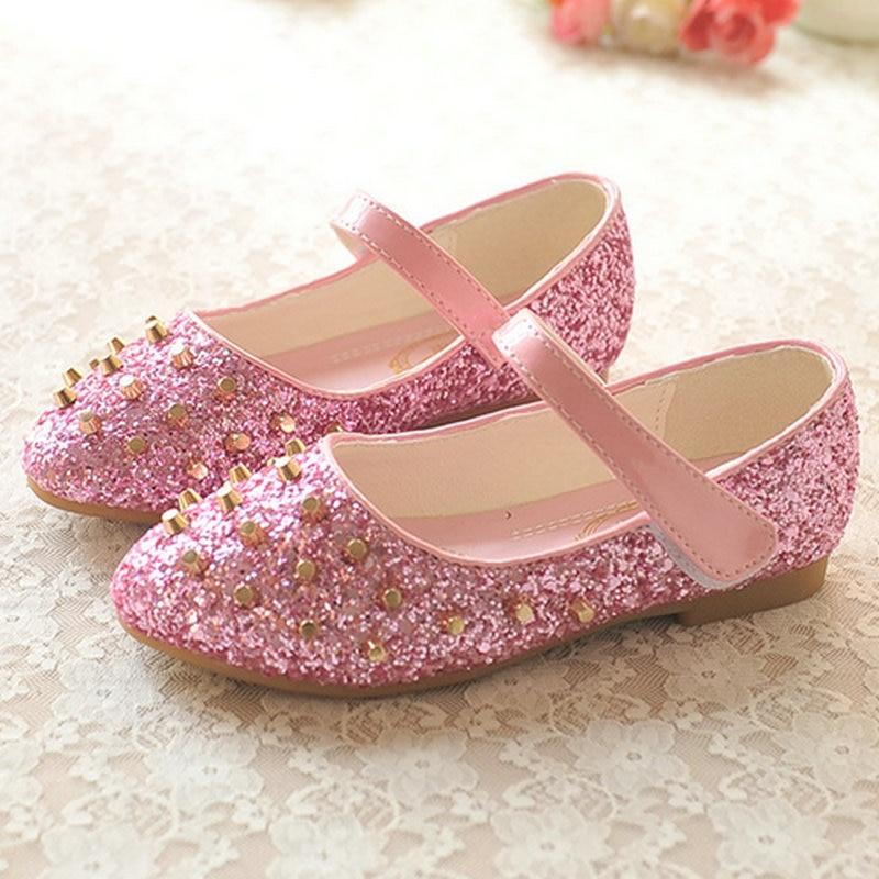 girls flats leather princess shoes kids girls dress shoes ballet shoes for girls children