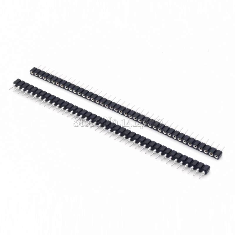 10Pcs Single Row 40Pin 2.54mm <font><b>Round</b></font> <font><b>Female</b></font> <font><b>Pin</b></font> <font><b>Header</b></font> image