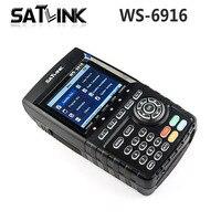 الأصلي satlink WS-6916 الفضائية مكتشف DVB-S2 الباحث tft lcd شاشة عالية الوضوح mpeg/MPEG-4 WS6916 استقبال