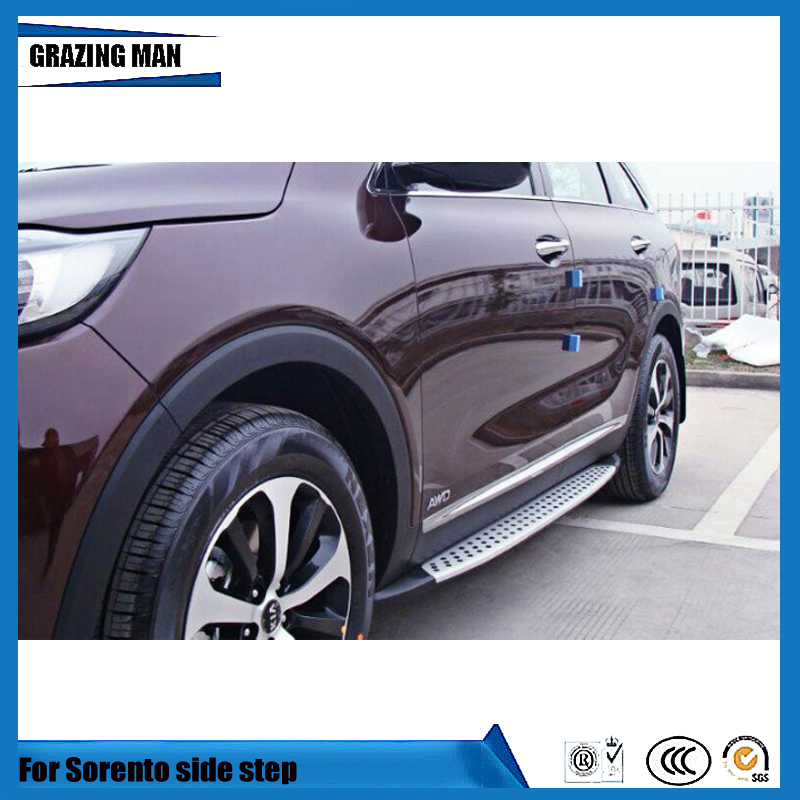 High quality aluminium alloy thresholds side step running board for Sorento 2010   2014 2015   2016|Roof Racks & Boxes| |  - title=