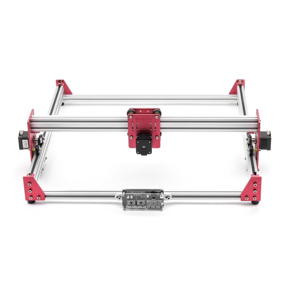GK4545 Pro Máquina de Gravação A Laser 5500 mw 15000 mw Cabeça 45x45 cm Área de Madeira Router Fresadora PCB máquina de Escultura Em madeira