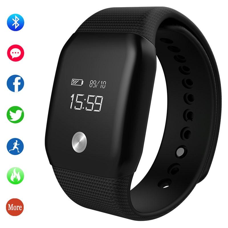 Waterproof Watch Smart Bracelet Intelligent Digital Pedometer Heart-Rate-Monitor Women's