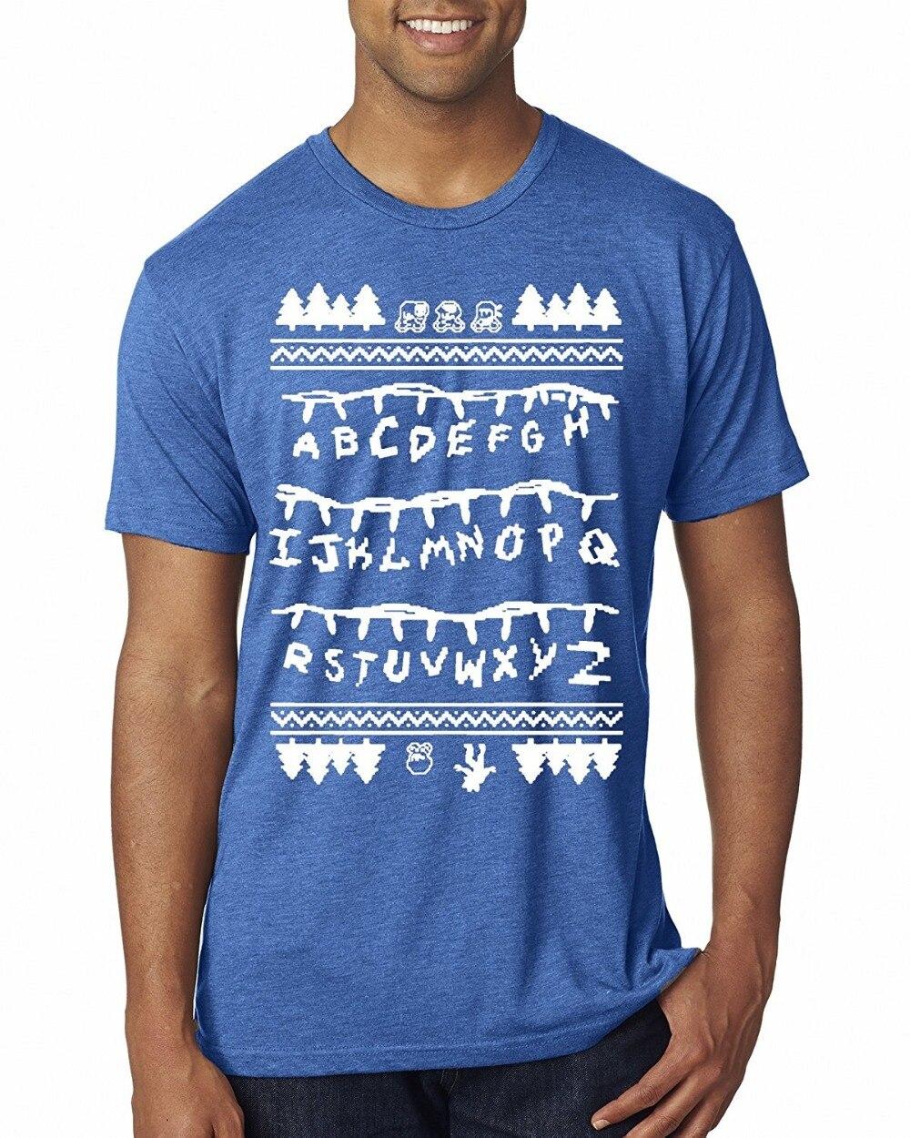 Shop Shirts Short Sleeve Zomer Crew Neck Mens Wild Bobby Strange Lights T Shirts