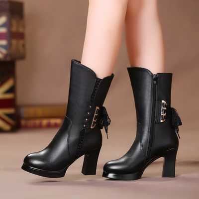 Shoes High Heeled Boots Matte Female Autumn Winter Women'S Boots Fine With The High Boots Stovepipe Single S3772
