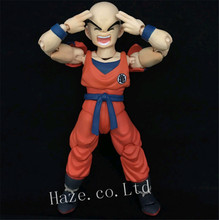 Anime Dragon Ball Z Krillin Kienzan PVC Action Figure Figurine Model 12cm japan anime dragon ball original megahouse dragon ball gals complete collection figure lunch black hair ver