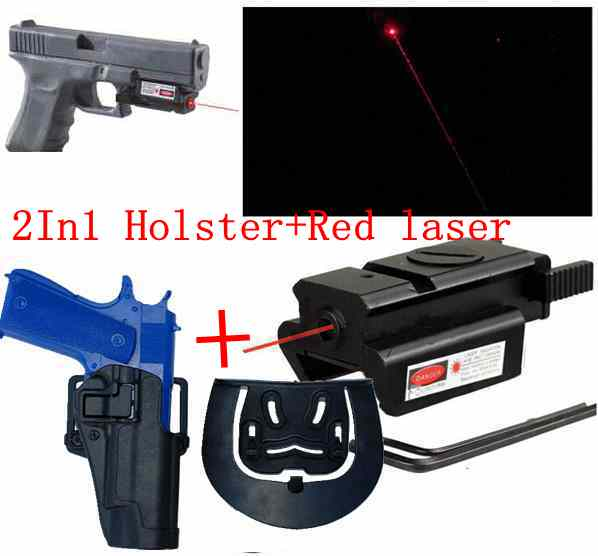 US $11 08 37% OFF FS Brand CQC Colt 1911 Tactical Gun Holster+Tactical Red  Dot Laser sight-in Holsters from Sports & Entertainment on Aliexpress com  