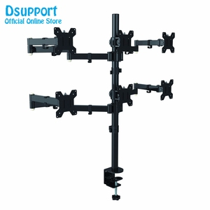 Image 3 - Six Arm LCD LED Monitor Stand Desk Mount Bracket Heavy Duty & Fully Adjustable 6 Screens up to 27
