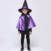 Halloween Witch Kids Costume for Girls Witch Costume Accessories Witch Hat + Witches Robe/Cloak + Skirt + Blouse