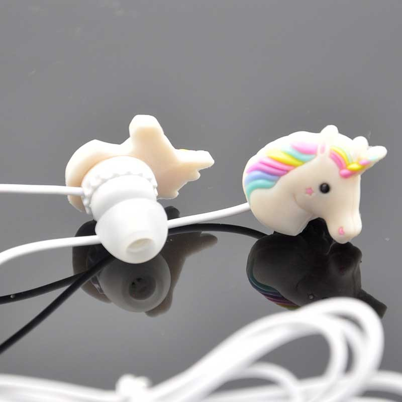 3.5mm Wired Cheap Earphone with Microphone Stereo Cartoon Girl Horse Stereo Bass Earphone For Iphone Xiaomi Smartphone Computer uiisii hm6 high performance bass headphones with microphone fashion metal wired earphone for iphone xiaomi android smartphone