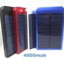 4000 mAh Cargador Solar Portátil Cargador de Batería Externo Powerbank Cáscara Del Metal usb power bank para iphone 5 5s 6 samsung xiaomi LG