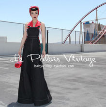 FREE SHIPPING Le Palais Vintage PIN UP Retro Classic Self Cultivation Wide Leg Jeans High Quality