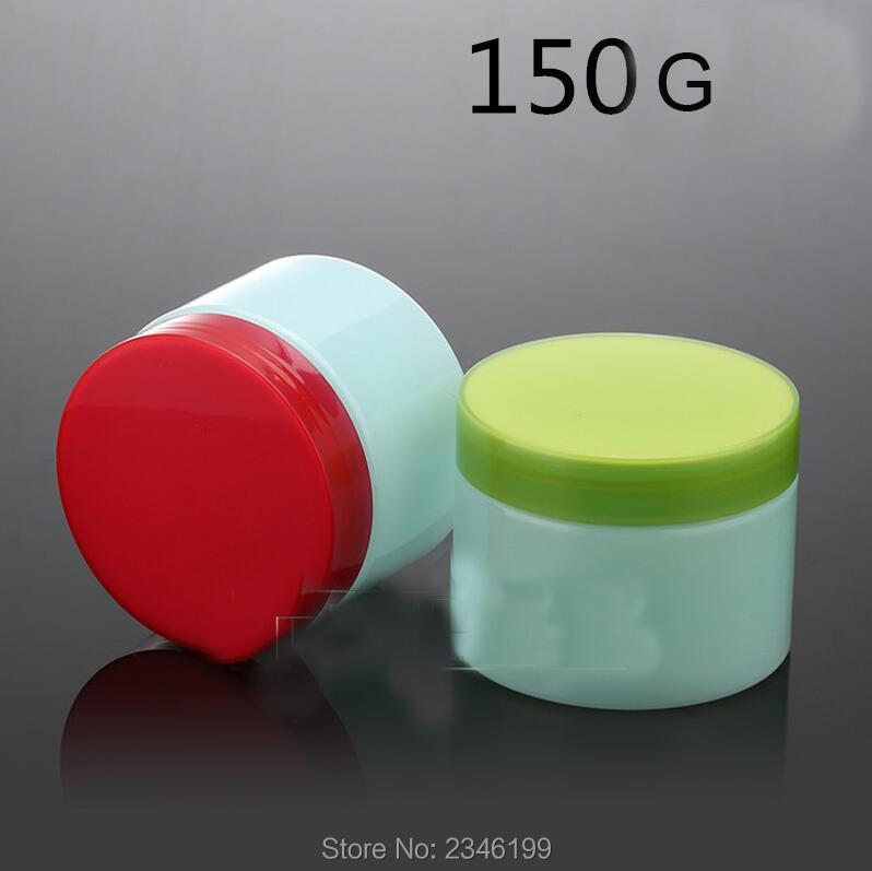 150G 20pcs/lot Blue Elegant Plastic Cream Jar, DIY Empty Round Cosmetic Facial Cream Container, Mask Case, Women Beauty Tool 20pcs lot 17 18g 17 33 to252