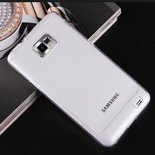 DYG, For Galaxy S2 Transparent Silicone case For Samsung galaxy S2 i9100 soft case silicon cover ultrathin TPU capa fundas