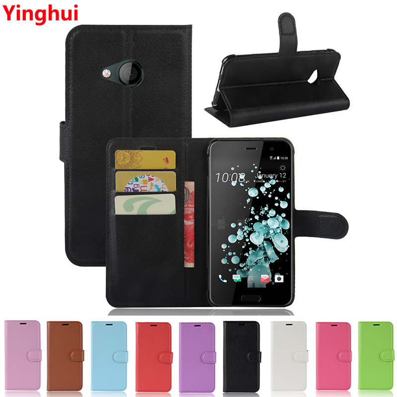 Business Flip Wallet Case for HTC U Play Book Style Leather Pocket Card Holder Case Cover for HTC U Play Phone Case