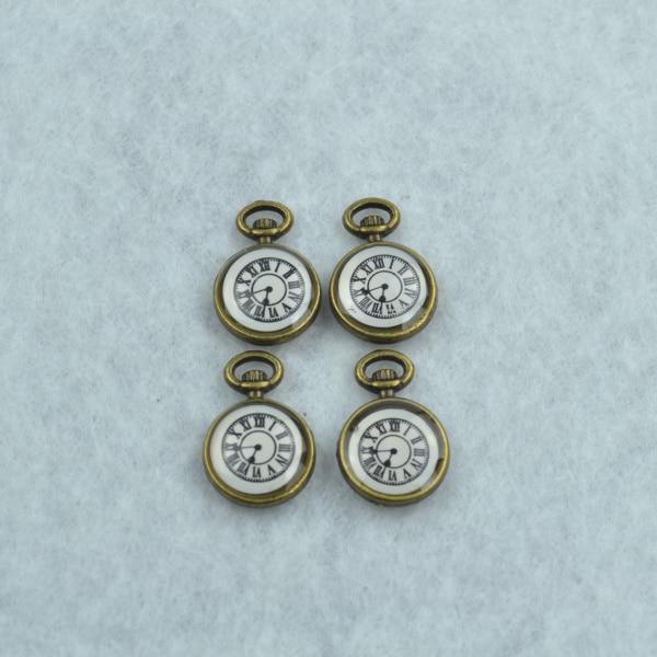 10 Stücke Emaille Charme Antike Bronze Metall Uhr Anhänger Fit Diy Halskette Armband Charme Für Schmuck Machen 1778