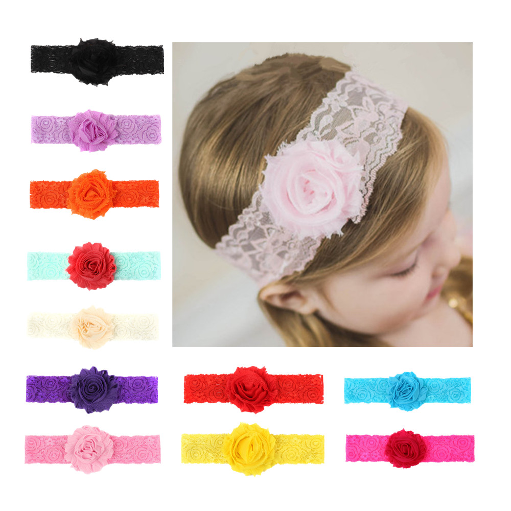 New 1 Pcs Baby Girls Sun Flower Headband Lace Band Hairbands Kids Hair Accessories Kids Children Girls Headwear Random