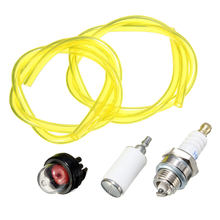 Primer Bola Garis Selang Bahan Bakar Filter Spark Plug Kit untuk Husqvarna Chainsaw Craftsman Pemangkas Brushcutter Strimmer Blower(China)
