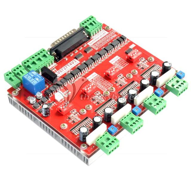 LV8727 V3 4.2A 4-Axis Stepper Motor Driver Board Controller for CNC Engraving Machine