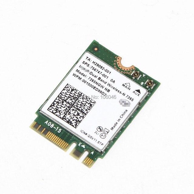 Dual Band para Intel Wireless - N 7265 7265NGW NGFF300Mbps sem fio wi fi Wlan placa de rede laptop interno