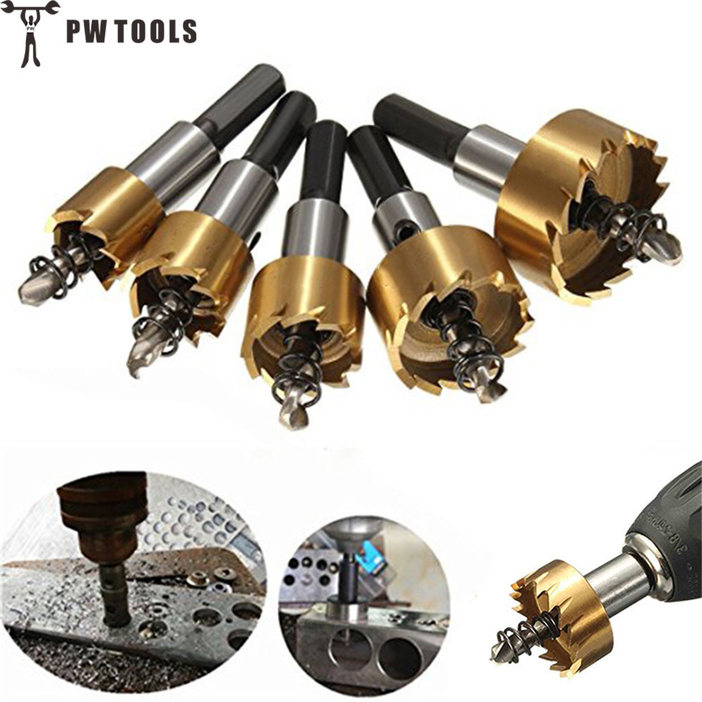 5 Pcs/Set Carbide Tip HSS Drill Bit Saw Set Metal Wood Drilling Hole Cut Tool for Installing Locks 16/18.5/20/25/30mm кружка айфон 815173