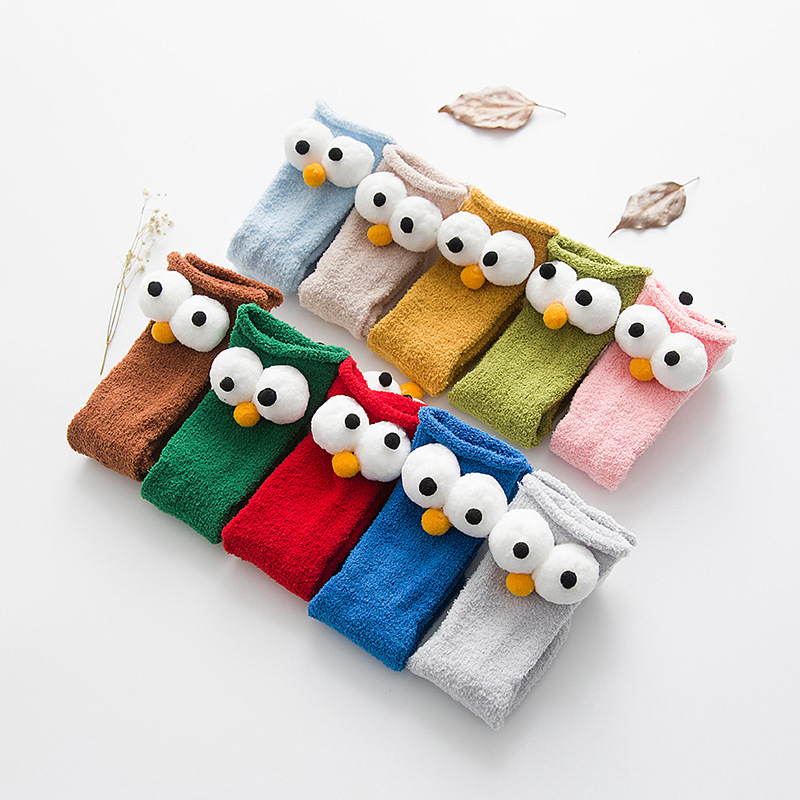 Autumn Winter Child Cute Big Eyes Sock Baby Socks Christmas Socks For Baby Gift