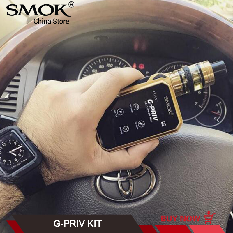 Original SMOK G-PRIV 220w KIT Touch Screen 5ml TFV8 Big Baby Tank V8 Baby X4 T6 Coil Electronic Cigarette Kits VS SMOK G-PRIV 2 все цены