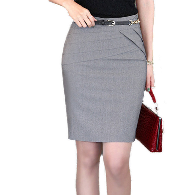 Online Get Cheap High Waisted Empire Straight Formal Skirts Woman ...