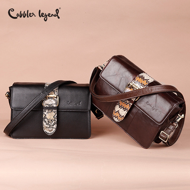 Cobbler Legend Brand Serpentine Women Messenger Bags Genuine Leather Crossbody Bags Women Ladies Shoulder Bag 2018 Famous Clutch famous brand designer 2018 ladies small messenger bags women serpentine leather shoulder bag high quality chains crossbody bags