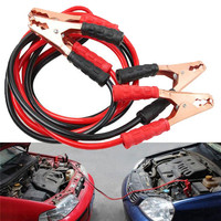 Kroak Black Red 2M 500AMP Copper Wire Auto Battery Line Emergency Cable Line Cable Clip Power