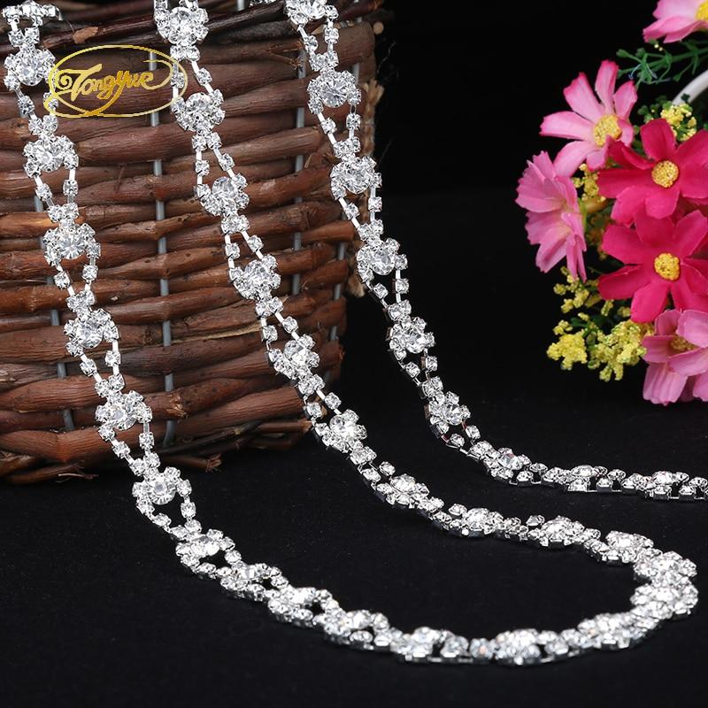 Altın Ve Gümüş renk 1 YD Rhinestone süslemek Alaşım Şasi DIY - Sanat, el sanatları ve dikiş - Fotoğraf 6