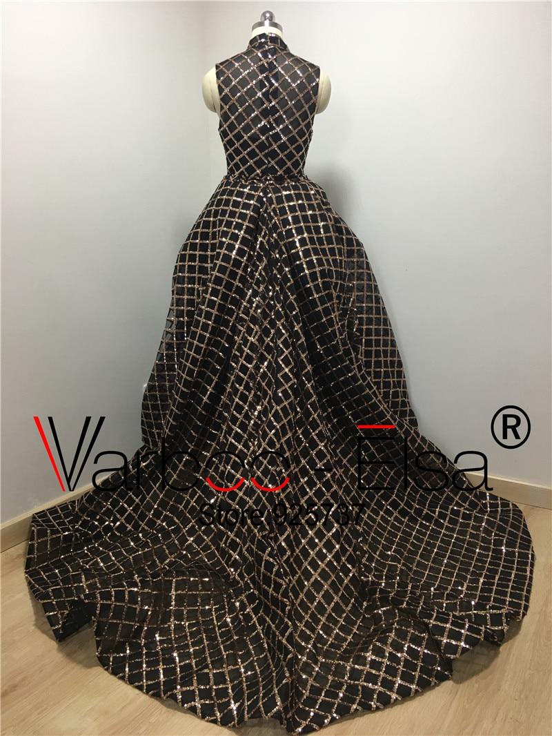 Nieuwe aankomst 2017 robe de soiree Yousef aljasm hoge hals glanzende - Jurken voor bijzondere gelegenheden - Foto 5