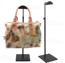 Adjustable Single Side Handbag Display Rack Black Metal Women Handbag Display Stand Holder HB7016