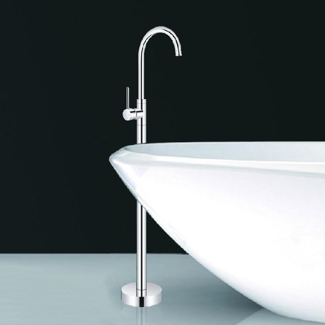 Luxury Floor Mount Bathtub Faucet Free Standing Shower Faucet Mixer ...