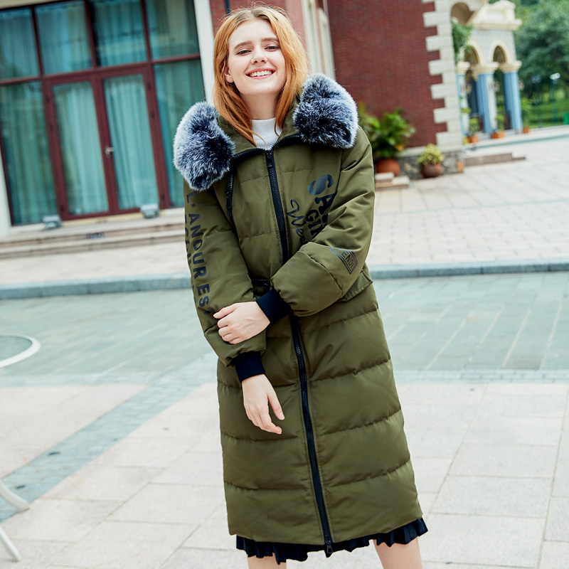 2017 Long Caramel Lotion Pink Black Army Green Autumn Cotton Winter Women Coat Jackets Puffer   Parkas   Mujer Invierno Clothing
