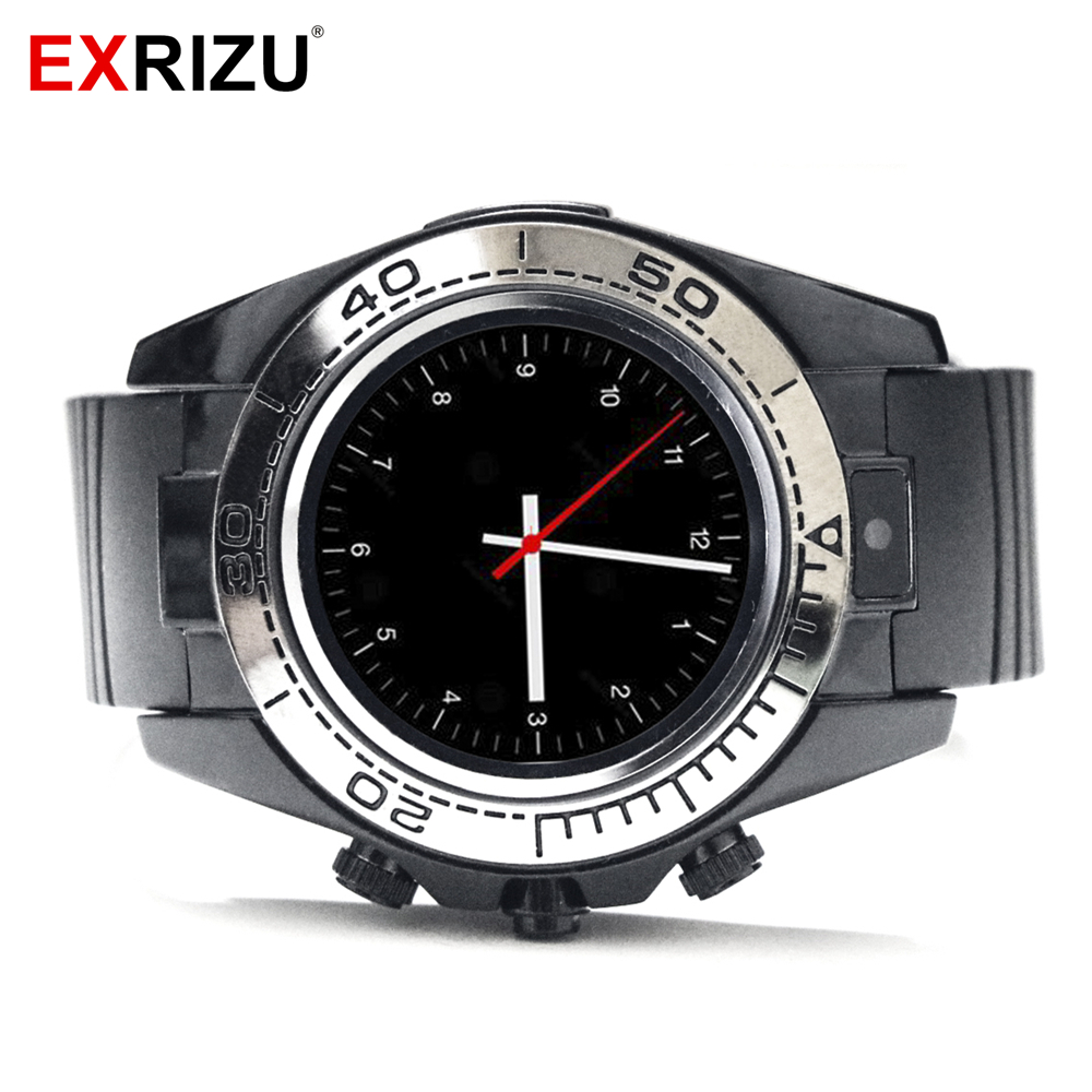 EXRIZU SW007 Bluetooth Smart Watch Circular Screen Smartwatch Alarm Clock Pedometer Support Camera SIM TF Card