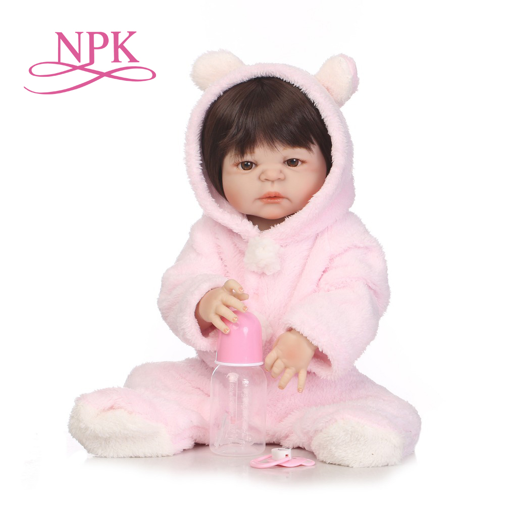NPK NEW ARRIVAL 55cm Soft Silicone Reborn Dolls Baby Realistic Doll Reborn 22 Inch Full Vinyl Boneca BeBe Reborn boy Doll victoria reborn baby boy dolls 22 full vinyl body doll new fashion 55cm lifelike lovely doll in blue clothes reborn baby doll