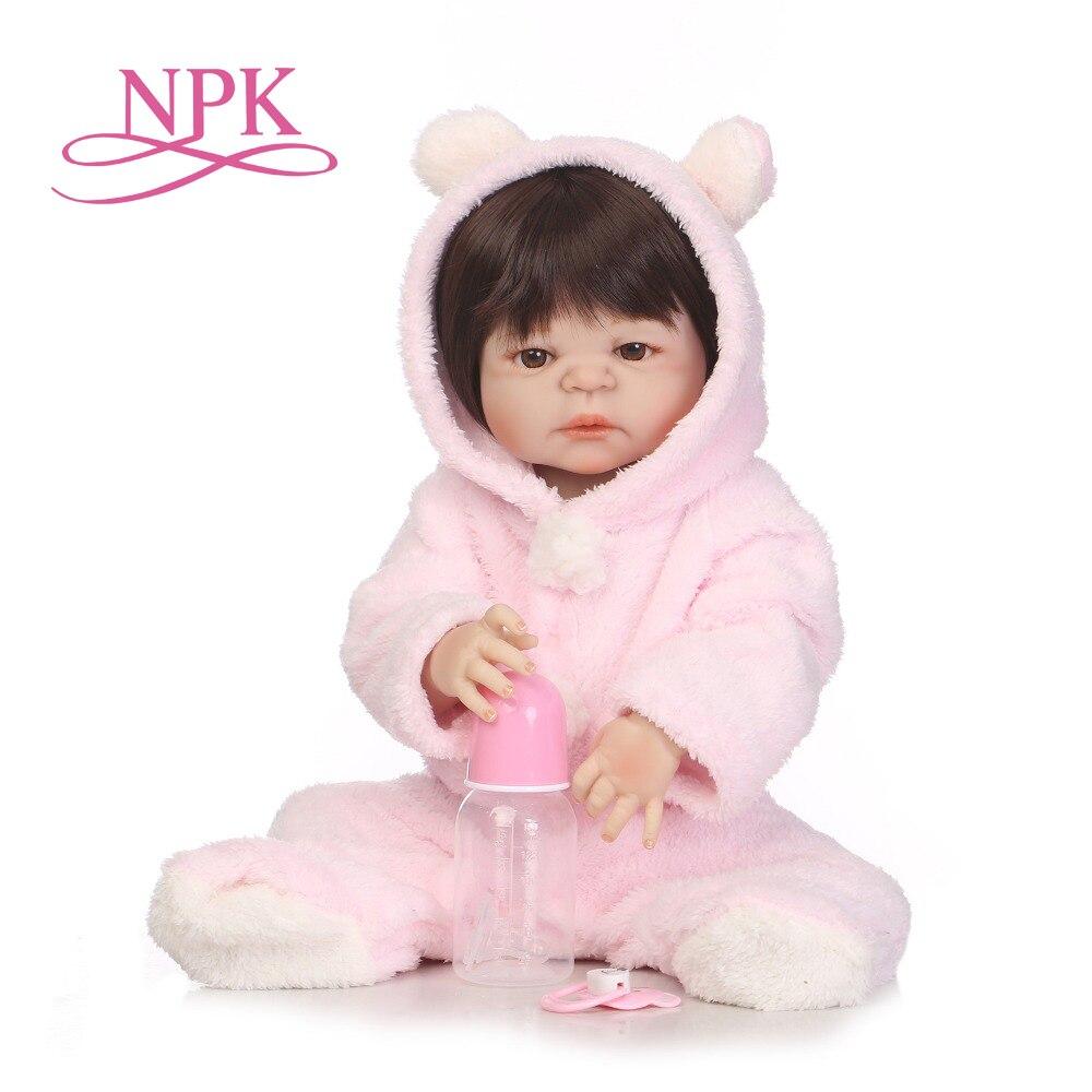 Oyuncaklar ve Hobi Ürünleri'ten Bebekler'de NPK YENI VARıŞ 55 cm Yumuşak Silikon Reborn Bebekler Bebek Gerçekçi Bebek Reborn 22 Inç Tam Vinil Boneca BeBes Reborn erkek oyuncak bebek'da  Grup 1