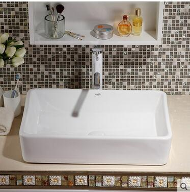 Wei yu the stage basin sink The hotel toilet square large size ceramic art basin that wash a face wash my face in Bathroom Accessories Sets from Home Garden