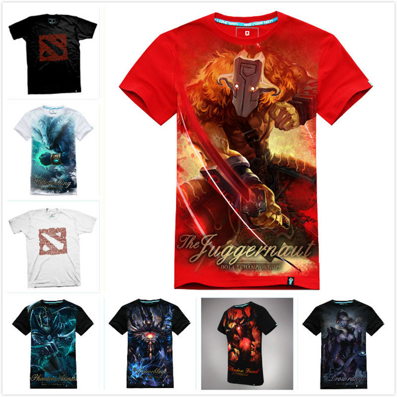 High Quality 3D DOTA 2 T-shirt Cool Morphling Terrorblade Shadow Fiend SF Juggernaut T shirts Men Boy DOTA2 Kael Hero Tee Shirt