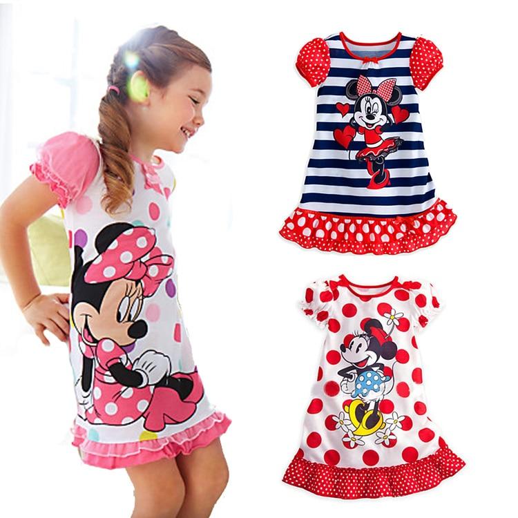 c2907bf9dd Knb verano Minnie Mouse niños niña vestido del bebé de la siguiente Pijamas  niñas vestido de verano 2014 Minnie Mouse que arropan APS049 en Sistemas de  la ...
