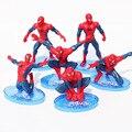6 pçs/set homem aranha figura Avengers Spiderman homem aranha PVC Action Figure brinquedos 7 - 11 cm grande presente