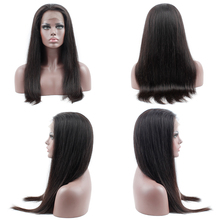 HC 360 Lace Frontal Wigs For Black Women 150% Density Brazilian Straight Hair Lace Frontal Human Hair Wigs With Babyhair Remy