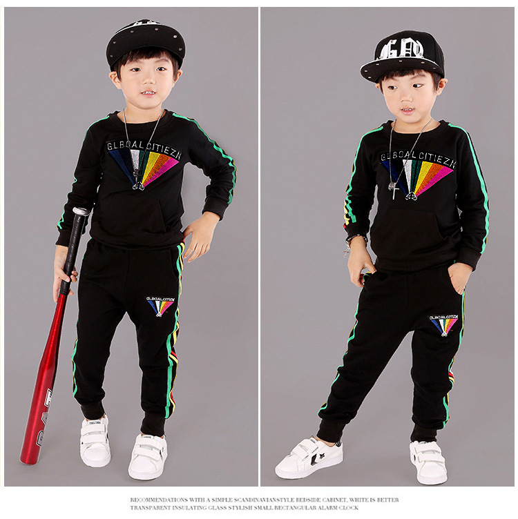 Kids Boys Sports Set Autumn Long Sleeve Children New style 2017 Autumn Pullovers Children's Clothing sets 4 5 6 7 8 9 years old