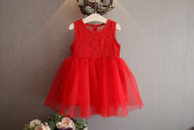 Girls Summer Dress 2019 Backless Youth Party Butterfly-knot Princess Dress Girls Dress Red 2-6t недорого