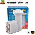 Universal lnb 8 saída lnb Extra de recepção digital de alta qualidade para tv por satélite dvbs2 banda ku lnb universal banda ku lnb 8