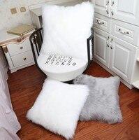 Soft Plush Decorative Pillow Square Pillow Home Decorative Fundas Almohadas Elegant Cushion Sofa Bed Home Car