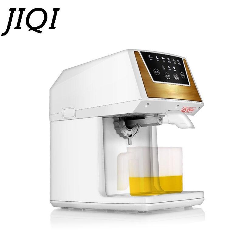 JIQI Extraction d'huile expulseur presse à huile Machine électrique Mini extracteur automatique noix de graines d'arachide sésame chaleur frite presseur d'huile